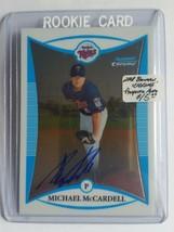 2008 Bowman Chrome Prospects #BCP268 Michael McCardell AU : Minnesota Twins - $4.04