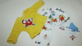 """18"""" doll clothes hand made pajama outfit Dr. Seuss Fox in Socks top pant... - $11.87"""