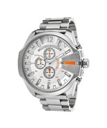 Diesel  Mega Chief Chronograph White Dial Stainless Steel Men's Watch DZ... - £93.32 GBP