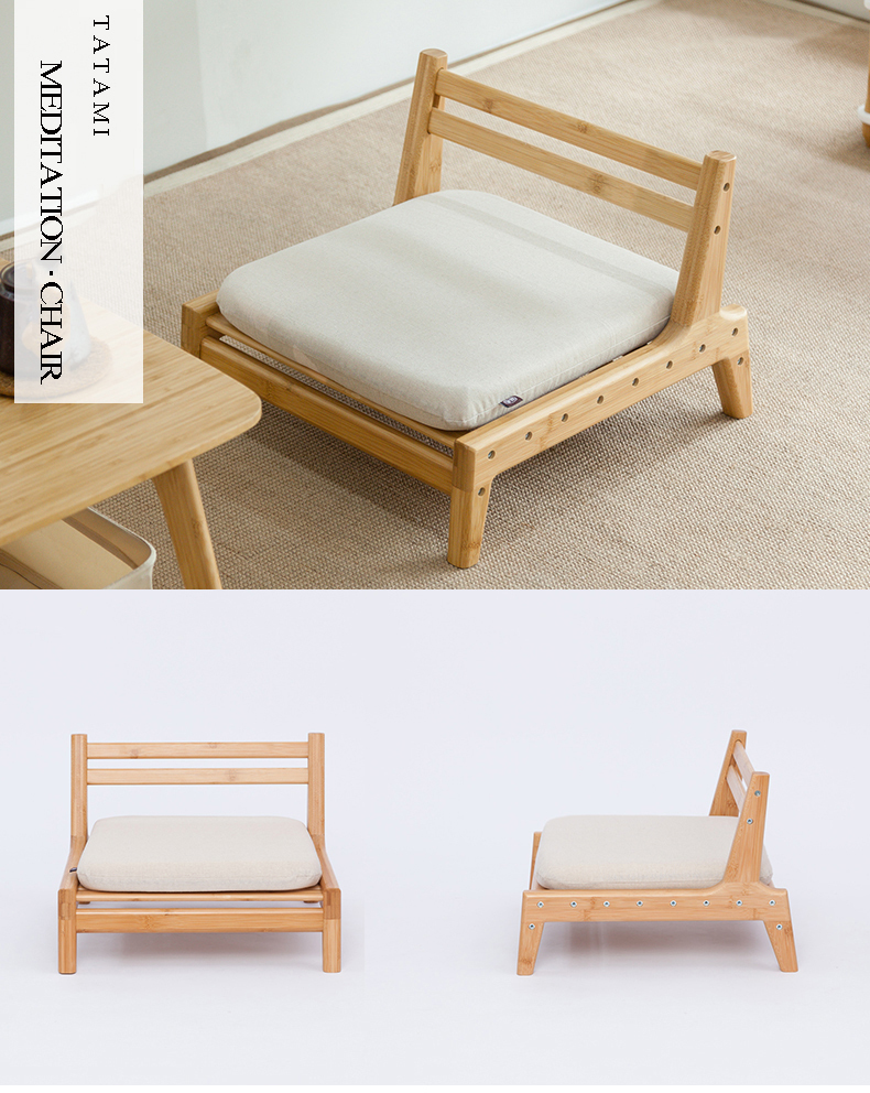 818's BAMBOO Meditation Chair Japanese Style with Cushion ...