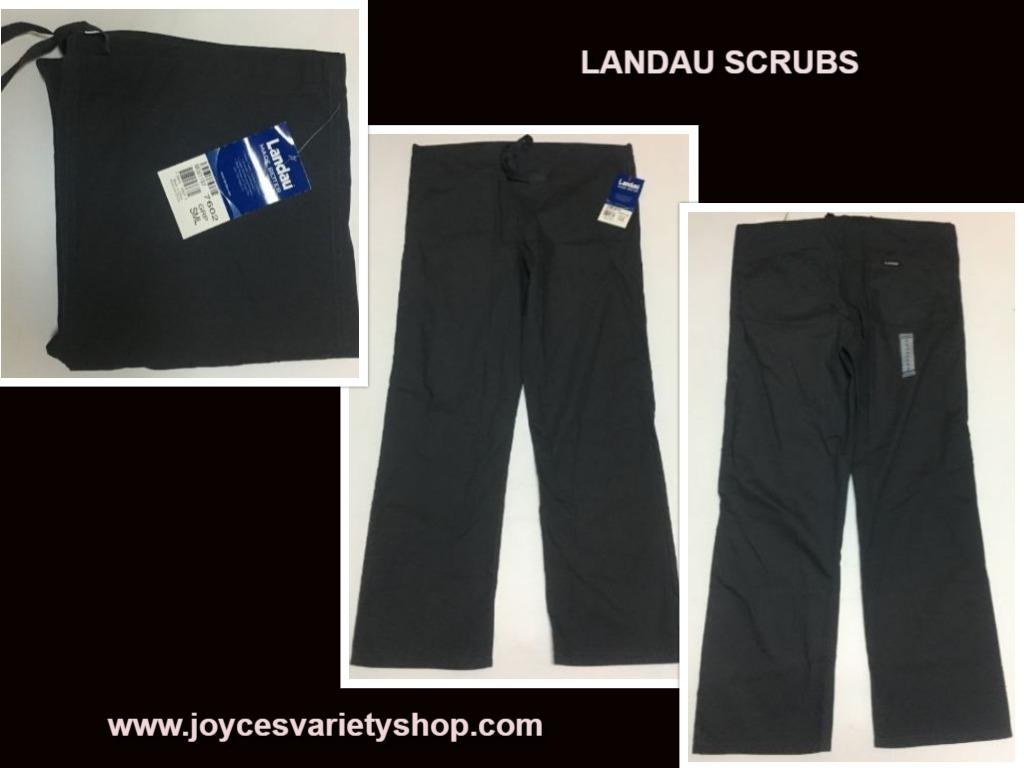 Landau gray scrubs small pants web collage