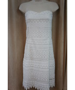 Aqua Dress Sz M Off White Strapless Lace Above Knee Evening Cocktail Dress - €88,07 EUR