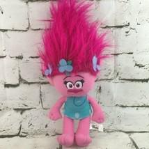 DreamWorks Trolls Poppy Plush Pink Embroidered Face Stuffed Animal Soft Doll - $11.88