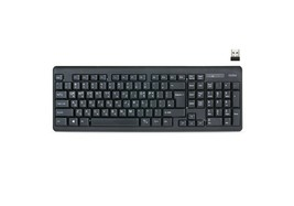 Cosy KB3362WL Korean English Wireless Keyboard USB Membrane Keyboard image 1