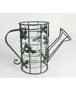 """Metal Decorative Watering Can with Bees and Glass Beaker Vase 7-1/2"""" - $23.75"""