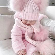 Kids Baby Girls Warm Infant Romper Jumpsuit Bodysuit Hooded PINK Clothes... - $33.50