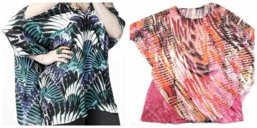 1X Plus Women's Point Zero Curvy Chiffon Poncho Blouse Shirt