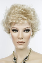 Champagne Blonde Blonde Short Jon Renau Wavy Curly Wigs - $110.40