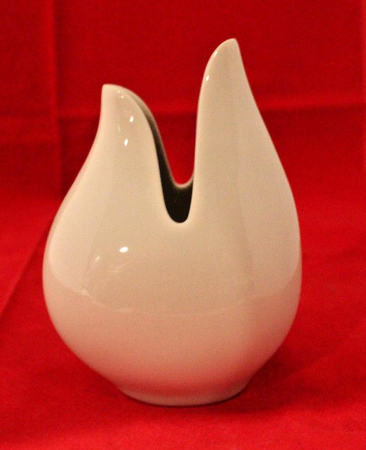 Schumann Arzberg Germany White Porcelain Onion Vase Christel Holmgren 1980 Rare