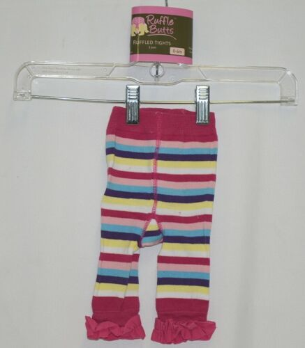 Ruffle Butts Ruffled Tights 1 Pair Multi Colored Striped 0 to 6 Months