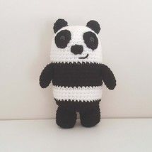 Panda Bear crochet plush, We Bare Bears, Panda amigurumi, panda toy - $21.00