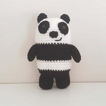 Panda Bear crochet plush, We Bare Bears, Panda amigurumi, panda toy - $21.00