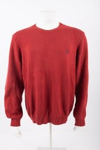 Polo by Ralph Lauren Mens Red Sweater Pullover 2XL XXL Crewneck 100% cotton - $39.59