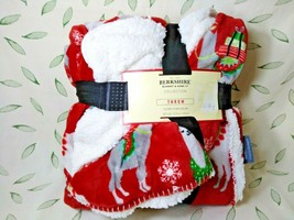 Berkshire Blanket & Home Collection Plushy Sherpa Throw Christmas Llama - $29.00