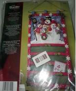 Plaid Bucilla Snowmen Greetings Card Holder Felt Home Decor Kit 15 x 27 NEW - $69.99