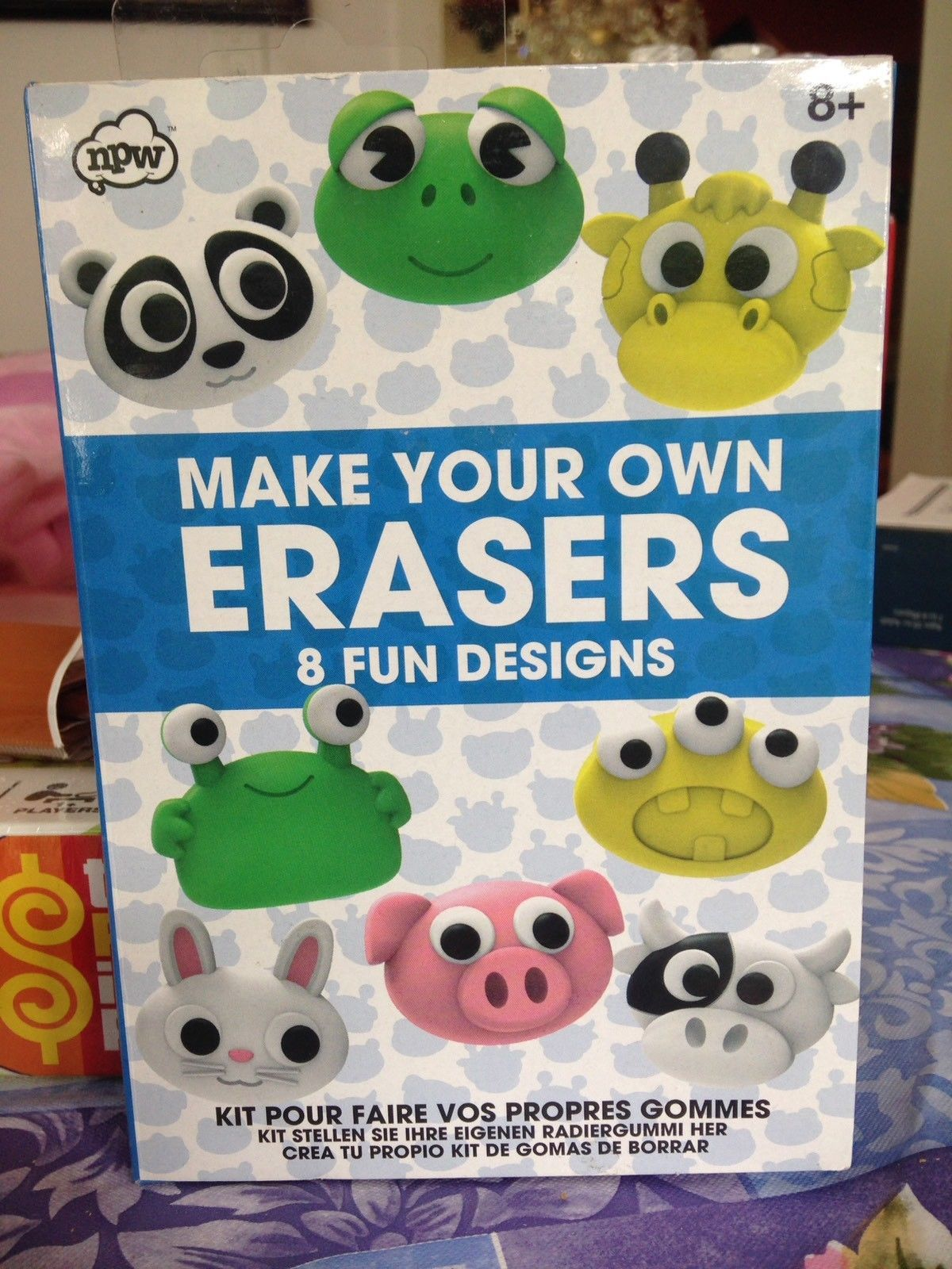 Make Your Own Animal Erasers & Fun Designs Craft Kit Rare Oven Bake Brand New