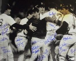 Marty Barrett signed Boston Red Sox 16x20 B&W Photo (ALCS MVP) 1986 AL C... - $159.00