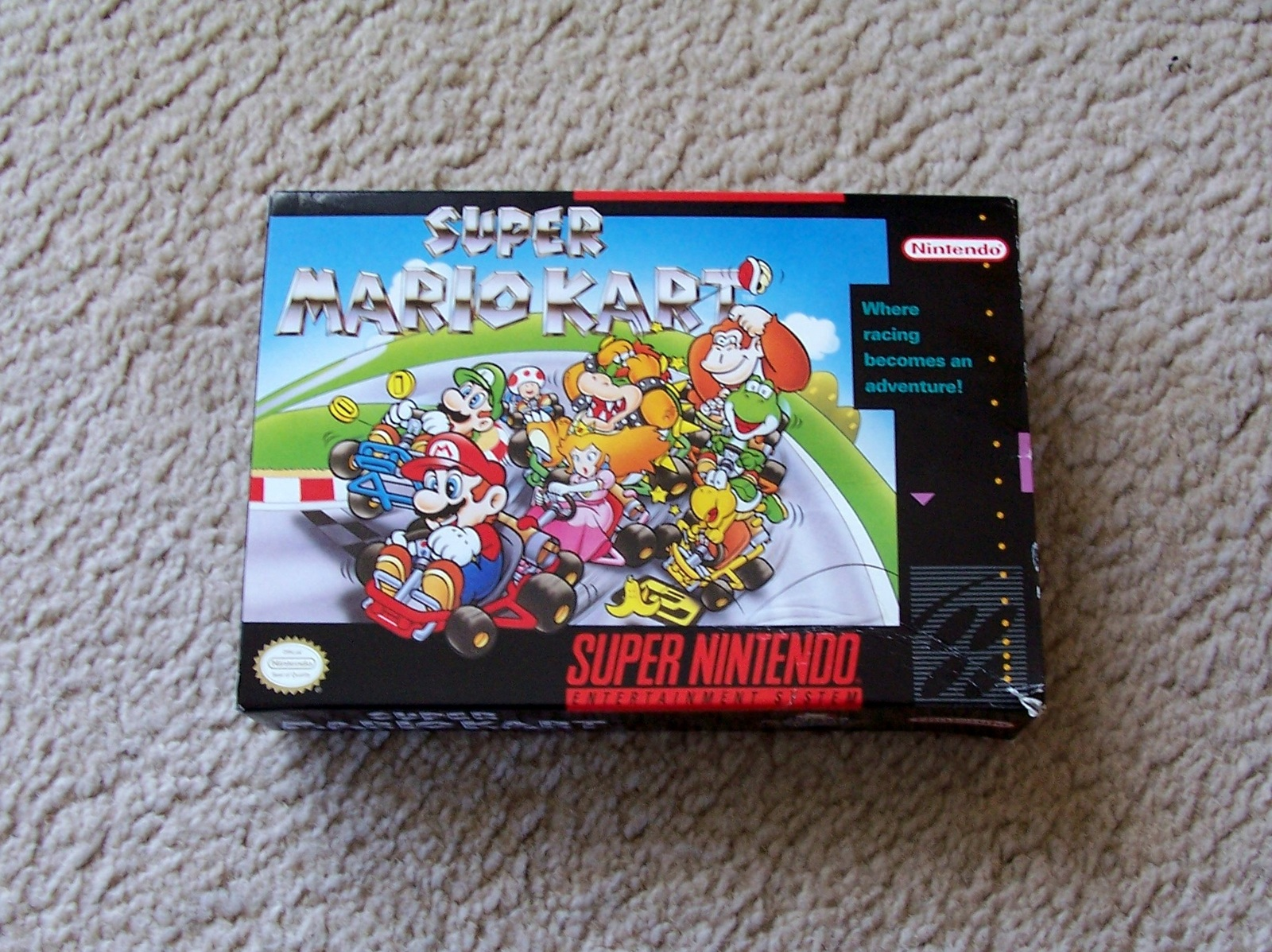 Primary image for Super Nintendo Super Mario Kart Video Game - SNES