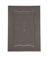 Primitive new FEDERAL STAR blacken tin CABINET panel/ 10 x14 /nice - $13.10