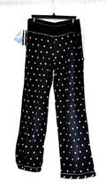 Jockey Women's Sleepwear MicroFleece Wide Waistband Black PJ Pants S-XL ... - $12.99
