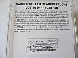 Micro-Trains Stock #00310044  (1038-10) Roller Bearing Trucks Long Couplers image 3