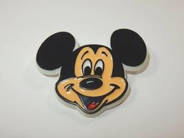 Walt Disney Prod Mickey Mouse Enamel on Plastic Pinback Pin RARE - $13.29