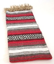 Red Quality Hand Woven Classic Mexican Yoga SYFT Blanket Large Throw *00... - $15.79