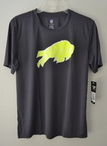 NFL Boys Performance Tee Charcoal Buffalo Bills Youth Large 14/16 New - $21.16