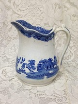 Vintage, Rare, Edge Malkin, England, Blue Willow 6.5in Pitcher, 3.5in Tumblers - $71.20