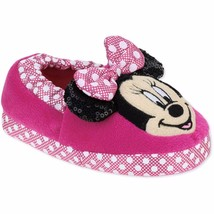 NEW Disney Junior Minnie Mouse Toddler Child Slippers 11/12 - $9.99