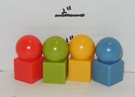 2003 Cranium Board Game Replacement Set of 4 Pawns - $9.50