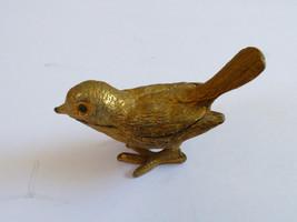 VTG GOLD TONE METAL BIRD FIGURINE DECORATIVE  PILL TRINKET BOX FLORENZA - $38.61