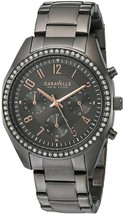 Caravelle New York Women's 45L161 Crystal Stainless Steel Watch - £206.94 GBP