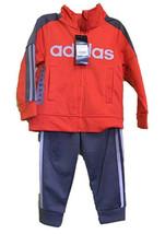 Adidas Boys' Tricot Jacket and Pant Set ( Orange) - $24.99