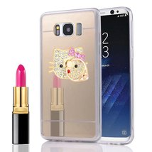 LG G3 Mirror Case,360 Rotating Ring Stand Luxury Mirror Back Shock-Absor... - $9.89