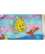 VINTAGE DISNEY The Little Mermaid PILLOWCASE purple Ariel Sebastian (cz)5 - $9.90