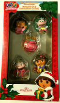 Dora The Explorer Set of 5 Christmas Holiday Ornament Kurt Adler Nickelo... - $24.48