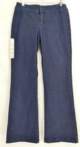 Barbara Lesser jeans 8 x 32.5 NWT dark Fibers wide leg slight flare USA - $29.69