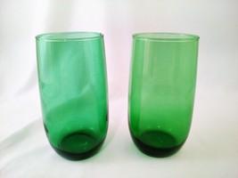 Vintage Anchor Hocking Forest Green Tumbler Cups Drinking Glasses - Set ... - $20.00