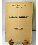 Madame Butterfly Madama Libretto Metropolitan Opera Italian English Book... - $14.00