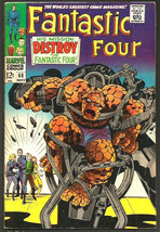 Fantastic Four #68 Marvel Comics Jack Kirby Stan Lee NICE 1st print& ser... - $63.36