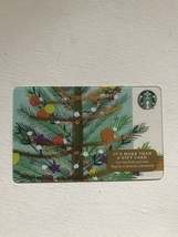 Starbucks Gift Card - NEW - DECORATED CHRISTMAS TREE WITH GARLAND HOLIDA... - $1.19