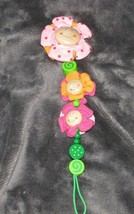 HABA WOOD WOODEN PACIFIER HOLDER CLIP BABY GIRL FLOWERS - $15.83