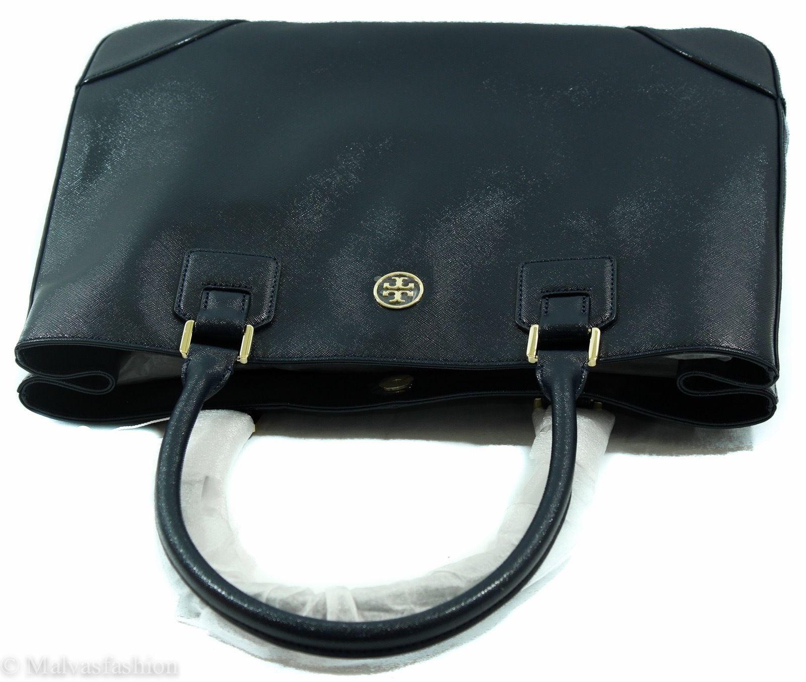 NWTTory Burch Robinson East/West Tote Handbag Bag, Blue image 7