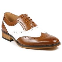 Top quality handmade leather shoes for men two tone leather shoes custom made - $167.60