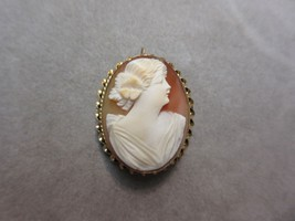 Vintage 10k Yellow Gold Carved Cameo Brooch Pin Pendant Combo - $242.55