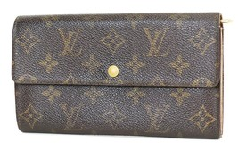 Authentic LOUIS VUITTON Long Wallet Monogram Zippered Coin Purse #37920 - $149.00