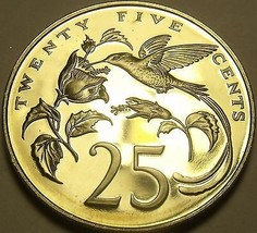 Rare Proof Jamaica 1978 25 Cents~Only 6,058 Minted~Streamer-Tailed Hummingbird~ - $13.71