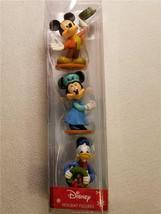 "3 Disney Holiday 3"" Figures Mickey Minnie Donald Age 3+ Mickey's Christm... - $14.24"