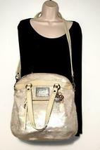 Coach Poppy ~ Pearl Opal Sequins Large Highlight Bag Tote ~ Patent Leather Trim image 12